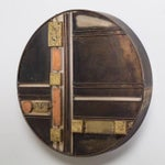 Image of Small Rare Curtis Jere Disc Metal Wall Sculpture
