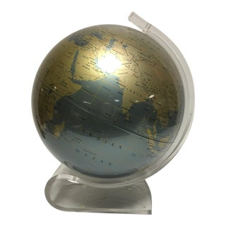 Vintage Replogle Diamond Marquise Lucite Globe