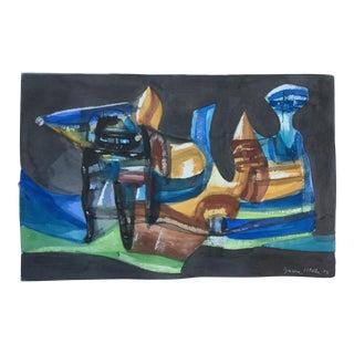 1973 Garcia Wella Encaustic Abstract Painting