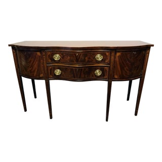 COUNCILL CRAFTSMEN Inlaid Flame Mahogany Hepplewhite Federal Sideboard