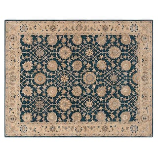 Pottery Barn Blue Madeline Persian Rug - 9′ × 12′