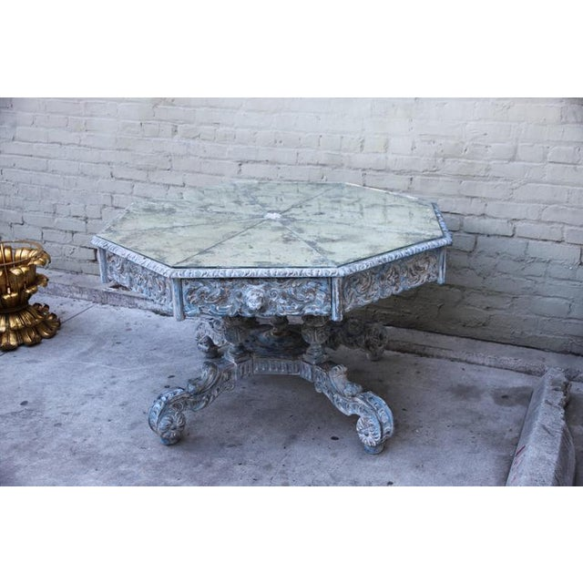 French Provincial Octagonal Painted Center Dining Table - Image 2 of 8