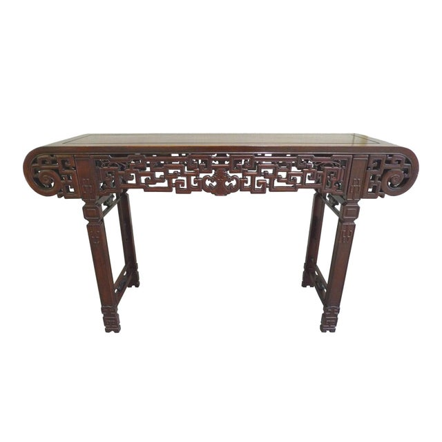 20th century elmwood asian altar table chairish for Table th width