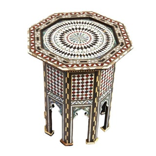 Moroccan Octagon Inlay Side Table