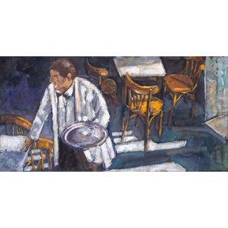 "Original Acrylic on Canvas ""The Waiters I"""