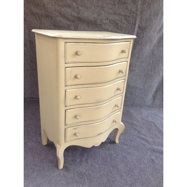 Image of Distressed Shabby Chic 5-Drawer Chest