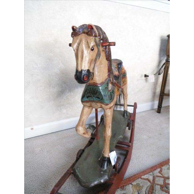 Vintage Display Hand Painted Rocking Horse - Image 9 of 10
