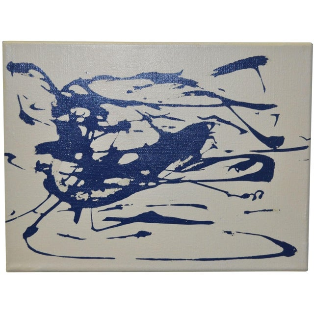 Image of 1988 Charles Hersey Vintage Abstract Painting