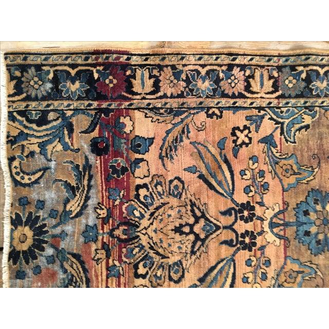Keshan Persian Rug Fragment - 2′8″ × 4′5″ - Image 3 of 7