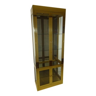 Mastercraft Vintage Brass and Glass Vitrine Cabinet