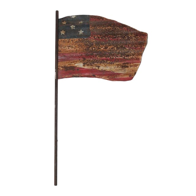 Original Painted Flag from a Weather Vane Fragment - Image 1 of 7