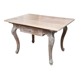 French Cerused Oak Writing Table