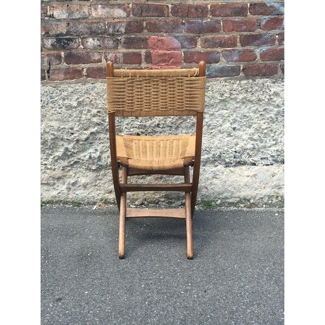 Image of Vintage Hans Wegner Style Folding Chair