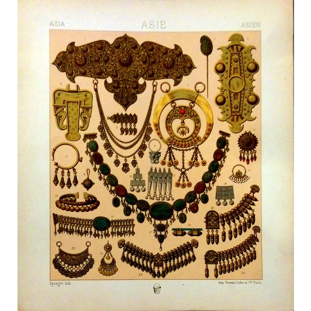 1888 Jewelry of Ancient Asia Lithograph - Image 1 of 7