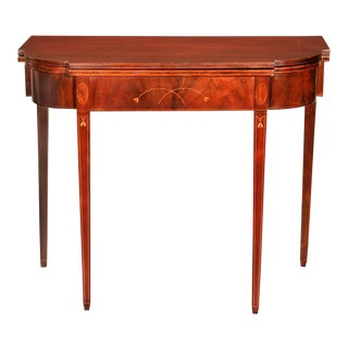 Inlaid Mahogany Hepplewhite Card Table