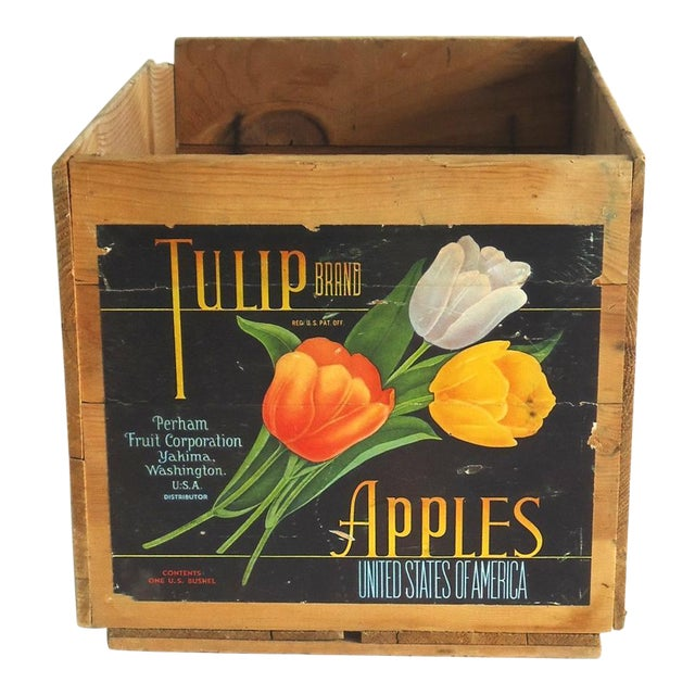Image of Vintage Tulip Apple Crate