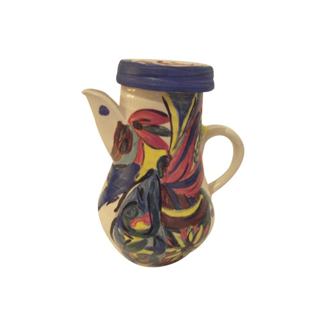 Art Pottery Covered Carafe - Image 1 of 7