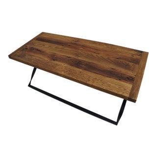 Modern Rustic Barley Twist Iron Base Coffee Table