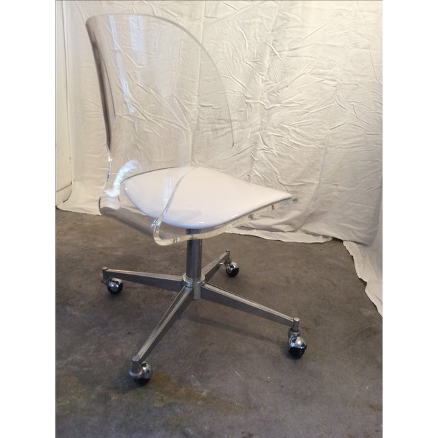Image of Mid Century Modern Sculptural Lucite Desk Chair