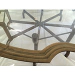 Image of Baker Brass & Glass Tray Coffee Table