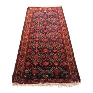 "Vintage Persian Balouch Rug - 4'7""x10'2"""