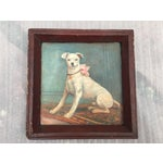 Image of Vintage Tray with Portrait Painting of a Dog