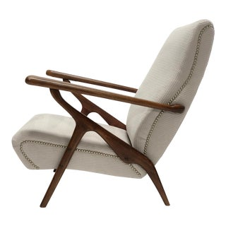 Adjustable Lounge Chair Attributed to Carlo Mollino for Antonino Gorgone