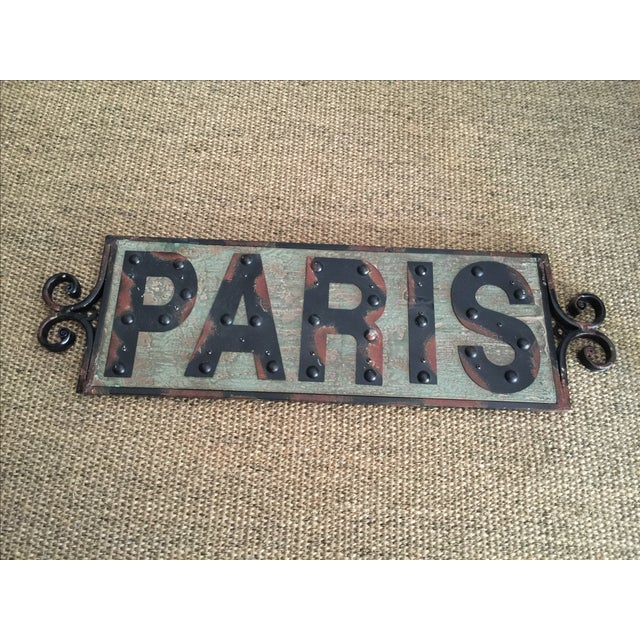 Shabby Chic Paris Sign - Image 2 of 4