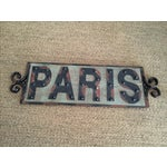 Image of Shabby Chic Paris Sign
