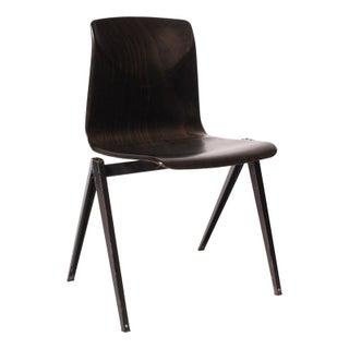 1970's Dark Wood Desk Chair