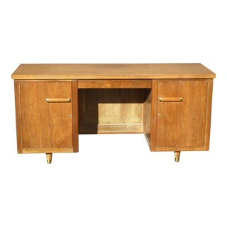 Mid Century Modern Solid Wood Writing Desk