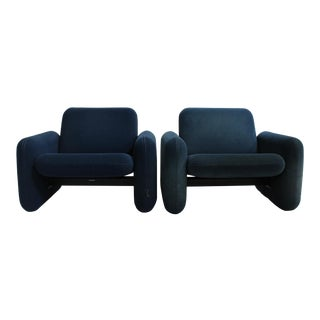 Ray Wilkes for Herman Miller Chiclet Chairs - A Pair