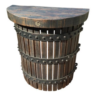 Custom Half Round Wall Wine Press Table