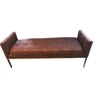 Vintage Chrome Upholstered Bench