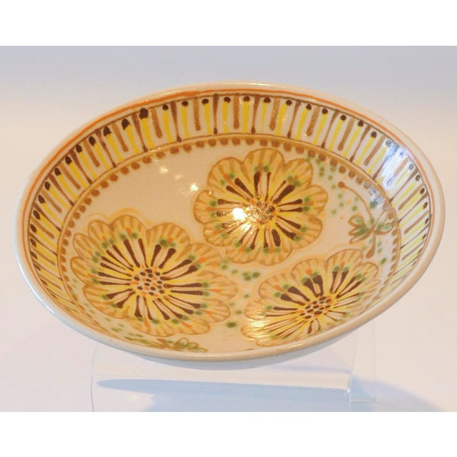 Mid-Century Janet Rothman Floral Bowl - Image 5 of 11