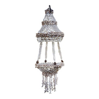 Cowry Shell & Tiny Seashell Chandelier
