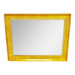 Vintage Gold and White Striated Paint Framed Mirror