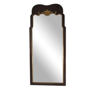 Rectangular Henredon Mirror with Gold Leaf