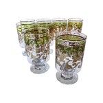 Image of Midcentury Holiday Beverage Glasses - Set of 8