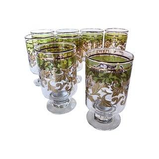 Midcentury Holiday Beverage Glasses - Set of 8