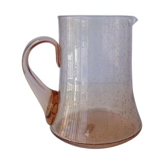 Murano Blush Pink Water Carafe/Pitcher