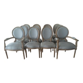 Louis XVI Style Dining Chairs - Set of 12
