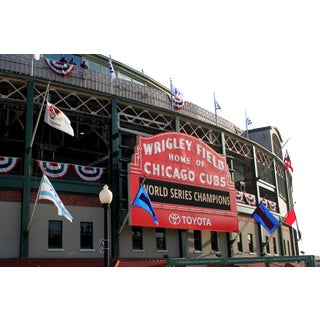 "Josh Moulton ""Cubs Win the World Series- Wrigley Field"" Giclee Print"