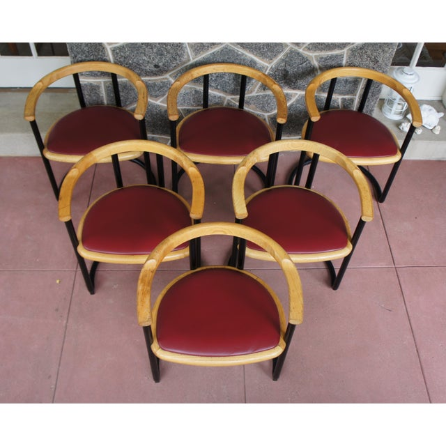 Ycami Collection Barrel Dining Chairs - Set of 6 - Image 3 of 11