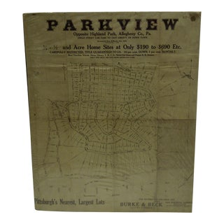 """""""Parkview"""" Sales Advertising Poster"""