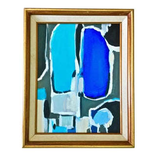 Abstract Blue Painting