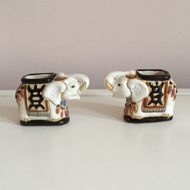 Mini Elephant Ceramic Containers - a Pair - Image 3 of 9