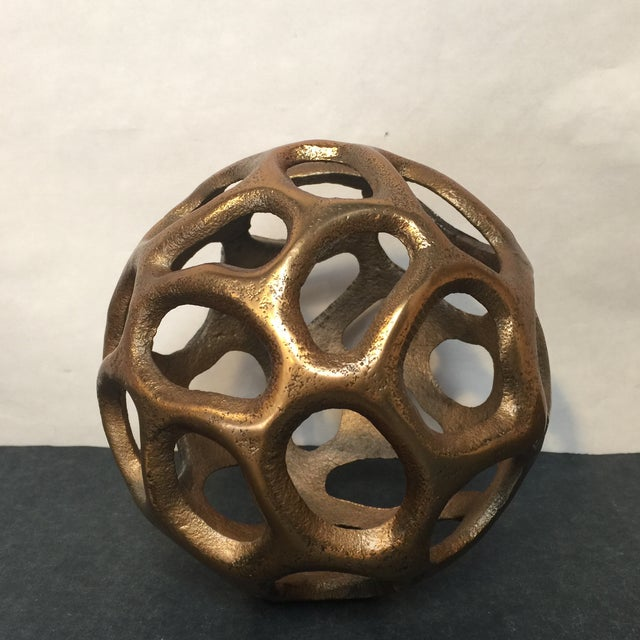 Image of Round Gold Metal Orb