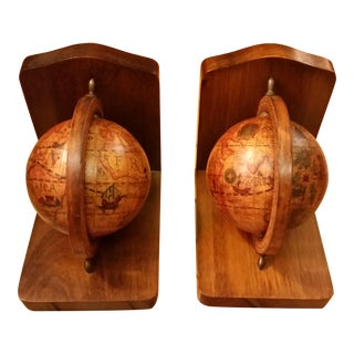 Olde World Globe Bookends - A Pair