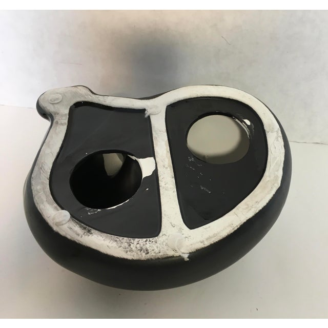 Image of Black Art Deco Style Ceramic Cat
